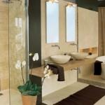 0-orhidee decor baie moderna minimalista amenajata in alb bej si maro