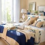 02-amenajare dormitor stil maritim alb si albastru