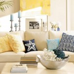1-accente galbene si bleu decor de vara amenajare living