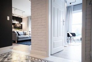 1-amenajare apartament modern minimalist in alb gri si negru