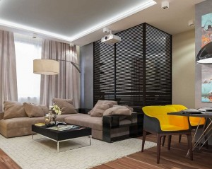 1-amenajare apartament semidecomandat cu 2 camere