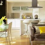 Bucatarie si living open space – solutie practica pentru apartamentele mici