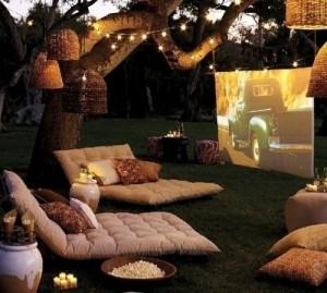 1-amenajare home cinema in gradina casei