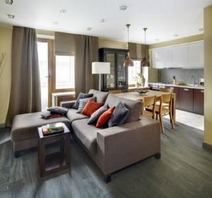 1-amenajare living apartament mic cu strictul necesar de mobila