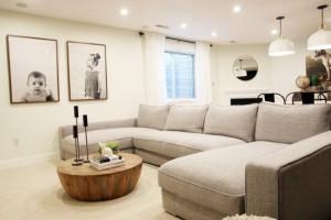 Canapeaua in forma de U in amenajarea livingurilor moderne