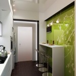 1-amenajare loc de luat masa in bucatarie mica de bloc in alb si vernil