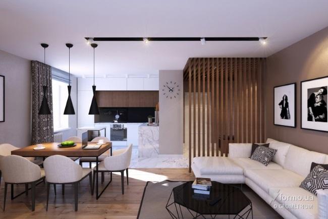 1-amenajare open space modern apartament 3 camere 76 mp