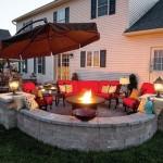 Relaxare in jurul focului decorativ – idei pentru curtea casei