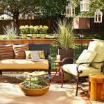 1-amenajarea unui living in aer liber pe terasa casei