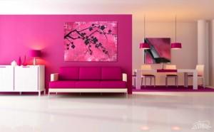 1-apartament moden accente cromatice ciclam sau fuchsia