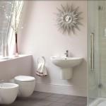 1-baie mica moderna cu cabina de dus wc si bideu