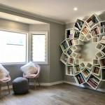 1-biblioteca in forma de floare construita de sotii Breem pentru living