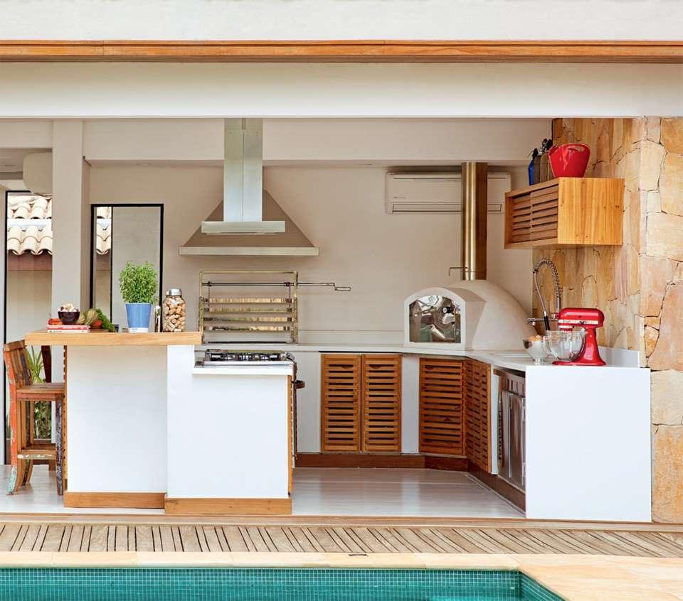 bucatarie exterior mobila zidita gratar cuptor