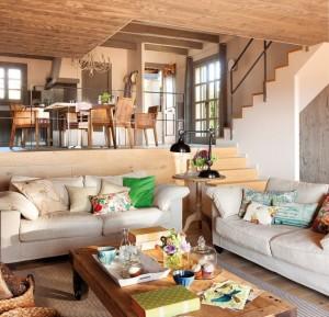1-bucatarie mezanin casa cu elemente rustice spania