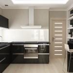 Negrul in calitate de accent in amenajarea unui apartament cu 2 camere