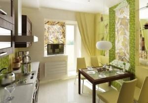 1-bucatarie moderna cu accente colorate verde fistic si corpuri de illustra alba