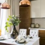 1-bucatarie moderna in culori calde apartament 2 camere