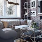 1-canapea chesterfield gri deschis amenajare living modern industrial