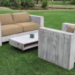 1-canapea din lemn cu pernute dehusabile pentru exterior magazin Mobilier Gradina