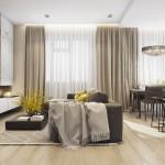 Inspira-te: un apartament modern decorat cu lemn