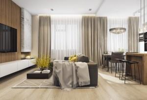 1-canapea living open space cu semineu pe bioetanol
