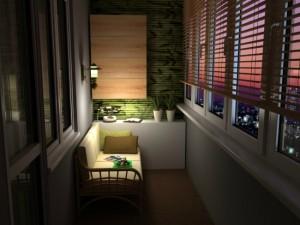 1-canapea si o comoda amenajare balcon mic inchis de apartament