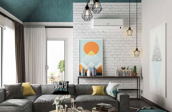 1-caramida vopsita alb perete accent living modern