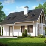 Proiect superb al unei case mici cu mansarda si garaj