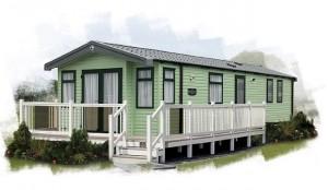 1-casa mobila noua Burgundy Swift exterior verde cu alb