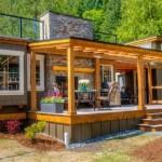 1-casuta din lemn mobila cu terasa pe acoperis