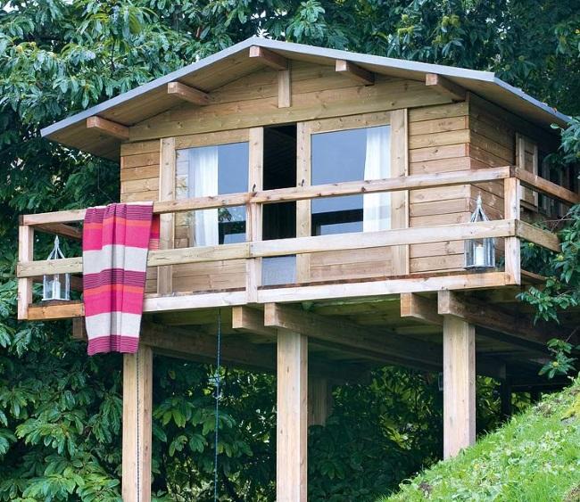 1-casuta din lemn pentru copii