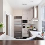 1-combina frigorifica in amenajarea unei bucatarii inguste