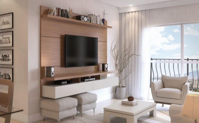 Comoda tv suspendata in amenajarea livingului, idee pentru spatiile mici