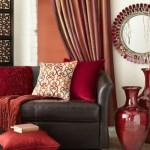 1-culoarea rosie in amenajarea si decorarea livingului modern