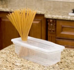 1-cutie din plastic pentru fierberea rapida a pastelor in cuptorul cu microunde
