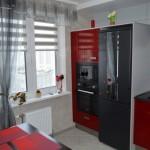 1-decor in rosu si gri bucatarie moderna de bloc