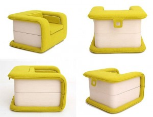 1-design fotoliu extensibil Flop Chair semnat de Elena Sidorova