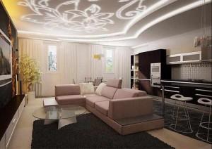 1-divizarea spatiului cu ajutorul canapelei