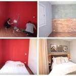 1-dormitor mic de bloc inainte si dupa transformare