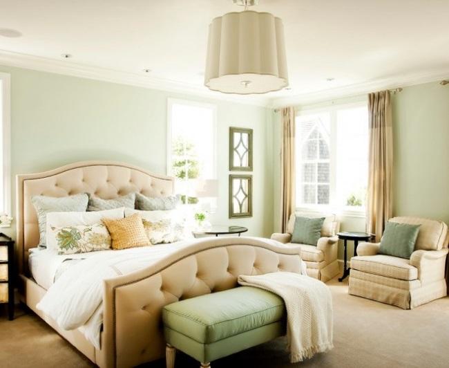 1-dormitor relaxant zugravit in verde extrem de deschis