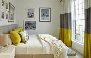 1-draperii in dungi orizontale late decor dormitor mic