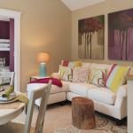 1-exemplu amenajare living mic modern dotat cu o canapea crem