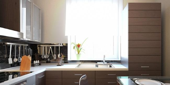 1-exemplu bucatarie moderna apartament cu chiuveta montata la fereastra