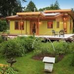 exterior casa lemn cu terasa 75 metri patrati