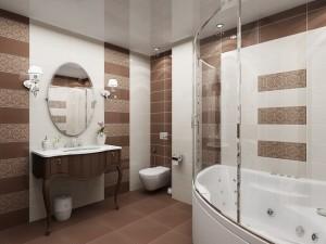 1-faianta dreptunghiulara montata pe orizontala amenajare baie