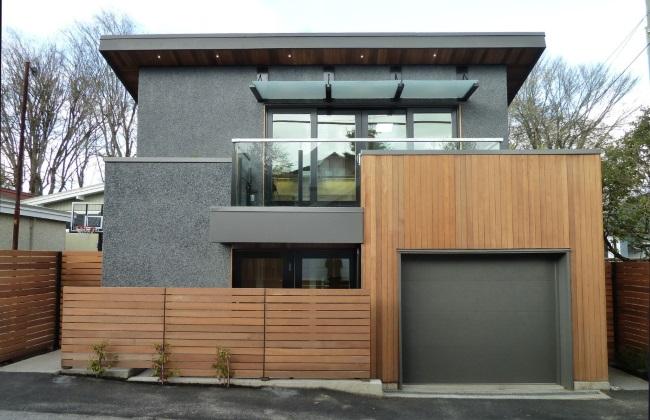 1-fatada casa 74 mp cu etaj proiect pentru teren foarte mic