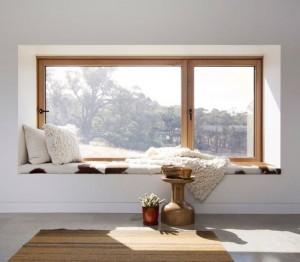 1-fereastra termopan cu tamplarie din lemn amenajare decor rustic