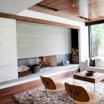 1-finisaje din lemn tavan perete si pardoseala living minimalist