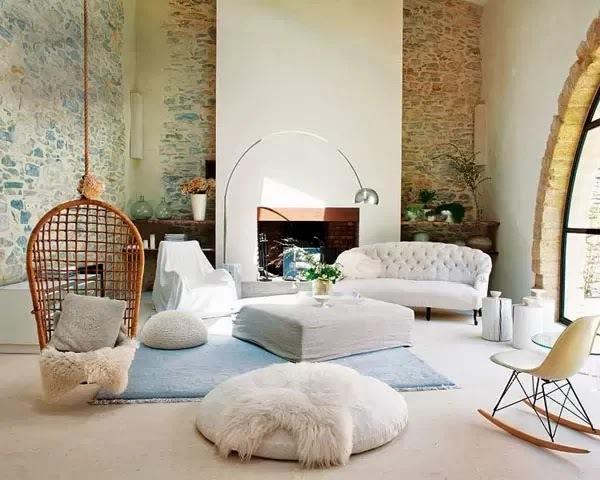 1-fotoliu suspendat decor living rustic casa veche provence franta