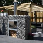 Gabioane – constructii decorative pentru gradina din plasa si piatra de rau